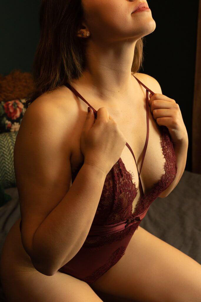 Closeup shot van body lingerie