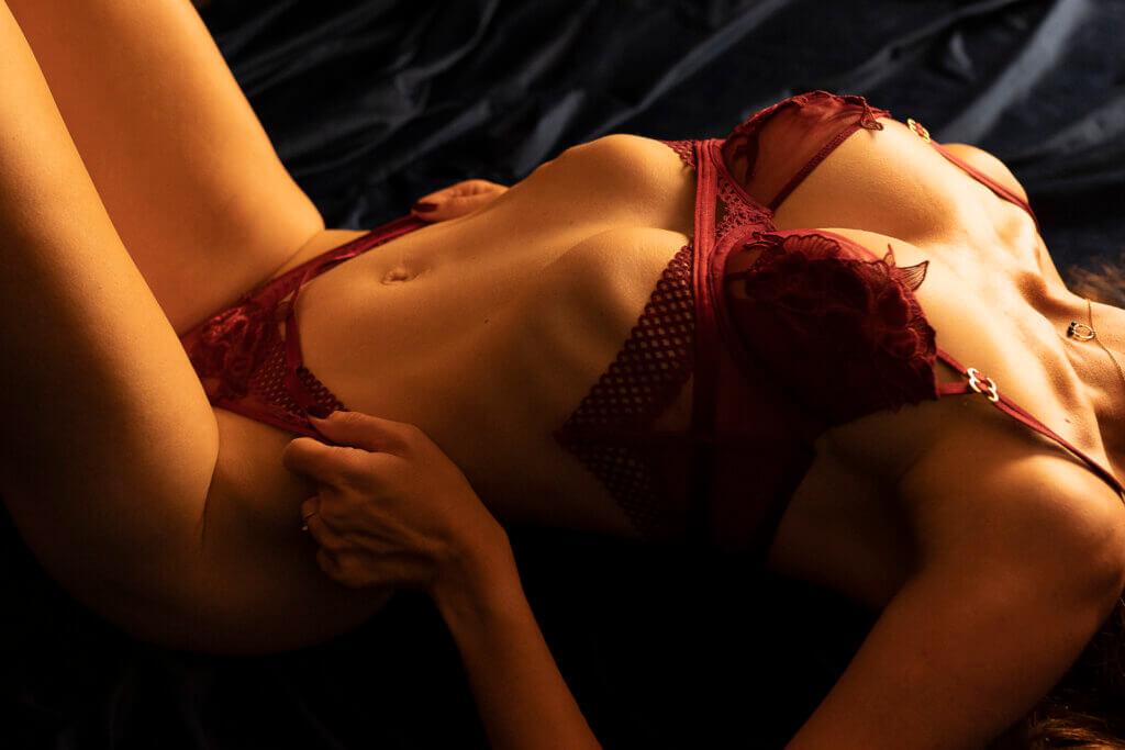 close-up boudoir lingerie