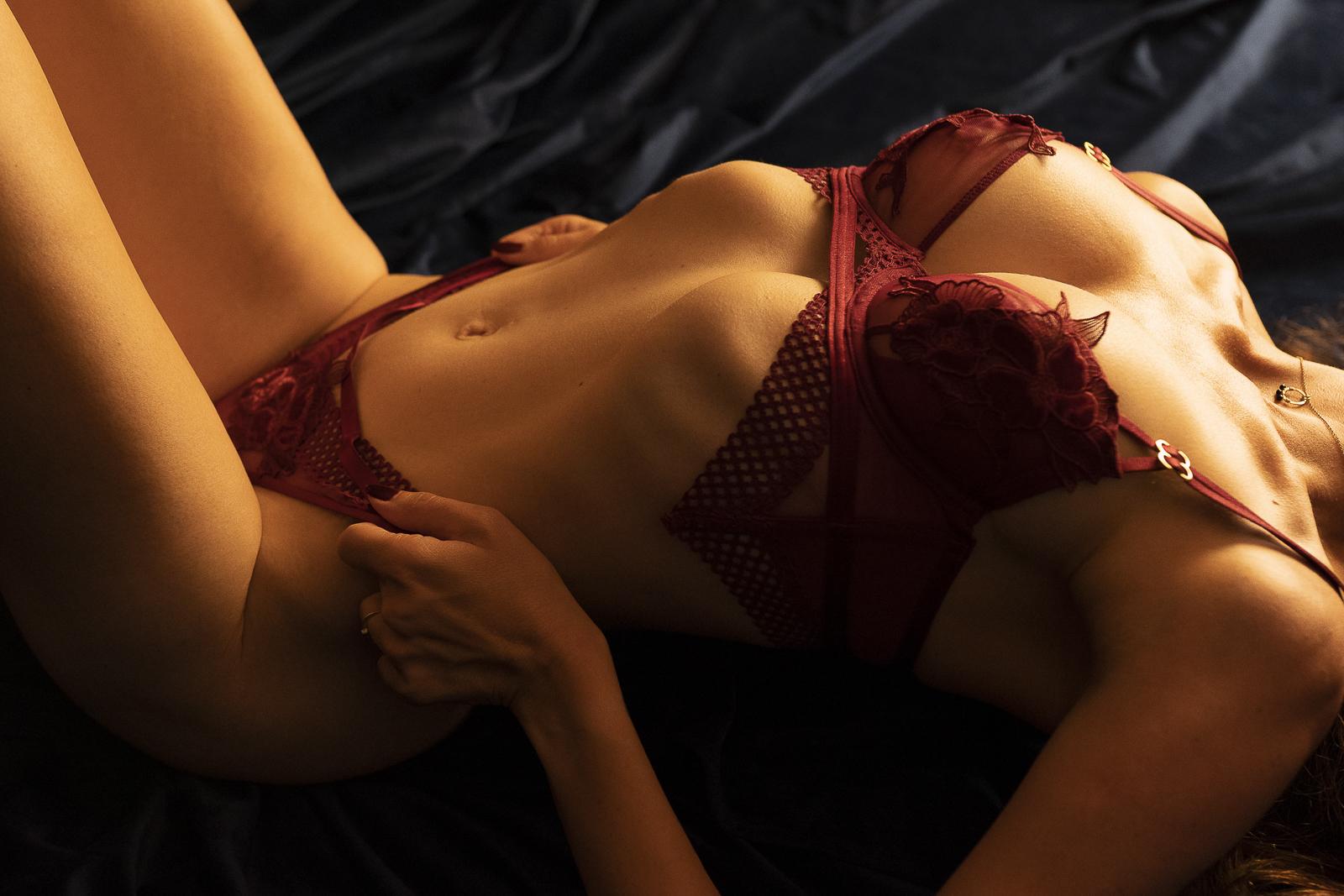 Boudoir lingerie close-up